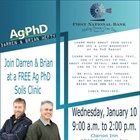 Join First National Bank January 10th for the Ag PhD Soil Clinic in Garden City